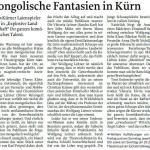 Mongolische Fantasien in Kürn